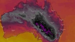 Australia S Weather Map Turns Black Due To Record Breaking