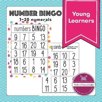 Free Bingo Game Numbers 1 20 Numbers For Kids Bingo For Kids Word Bingo