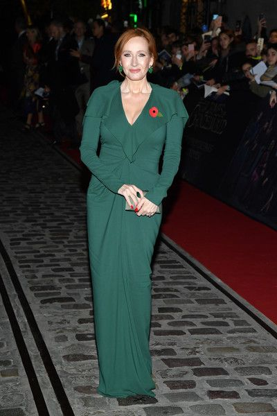 Writer J.K. Rowling attends the 'Fantastic Beasts: The Crimes Of Grindelwald' World Premiere at UGC Cine Cite Bercy.