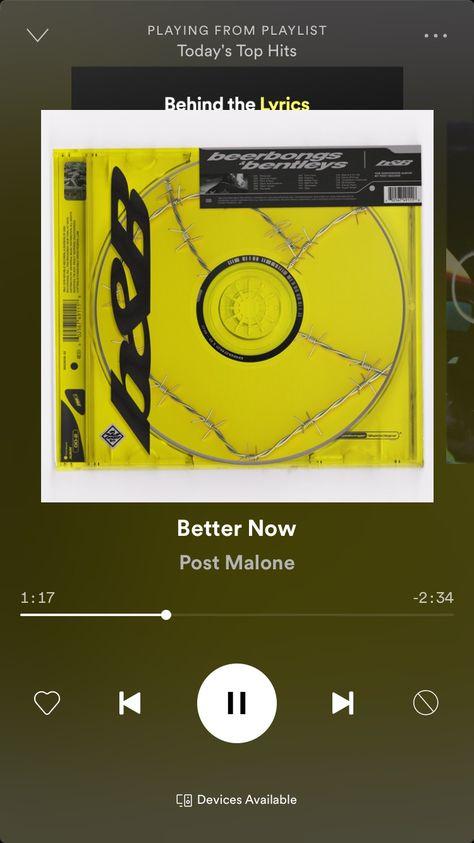 Post malone better now | Playlist de músicas, Musicas