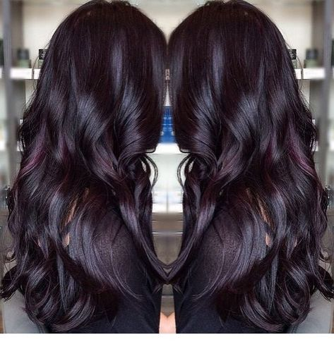 Gorgeous dark violet color on this long haired beauty! - Miladies.net