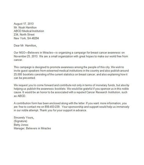 Sponsorship Letter Template 09 MUSEUM Pinterest Proposal - how to write a sponsorship letter template