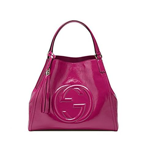 233303fb430 Gucci Soho Patent Leather Shoulder Bag 282309