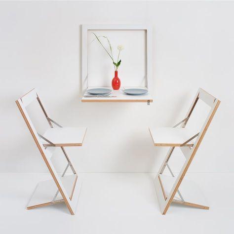 Ambivalenz - Fläpps Kittchen Table, black #küchetisch Ambivalenz - Fläpps Kittchen Table and Folding Table