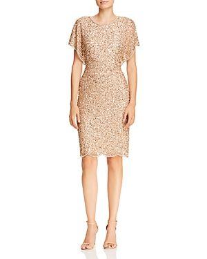 Adrianna Papell Dresses Sale Beaded Flutter Sleeve Sheath Dress Stylaly In 2020 Flutter Sleeve Dress Dresses Dinner Date Dresses