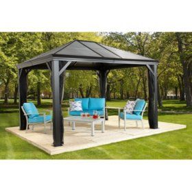 Sojag Mykonos Sun Shelter Various Sizes Sam S Club Gazebo Backyard Gazebo Pergola Patio