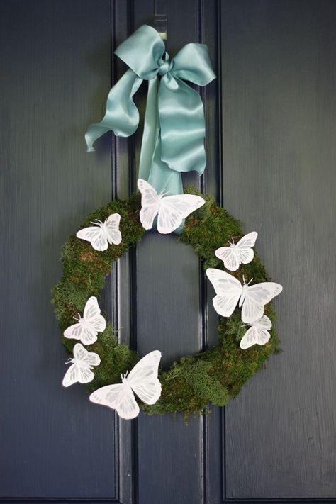 Butterfly Door Wreath