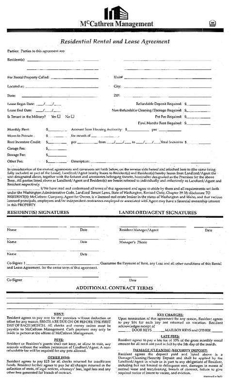Printable Sample Renters Lease Agreement Form books Pinterest - sample office lease agreement template