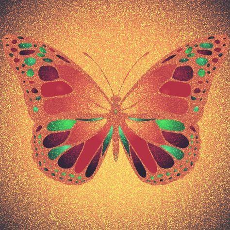 glitter #Colorfy #butterfly #glitter...