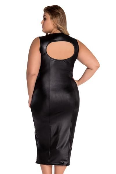 55172d2fb Black Faux Leather Bodice with Sweetheart Neckline Padded Midi Dress | leather  dress | Pinterest | Leather, Black faux leather and Leather dresses
