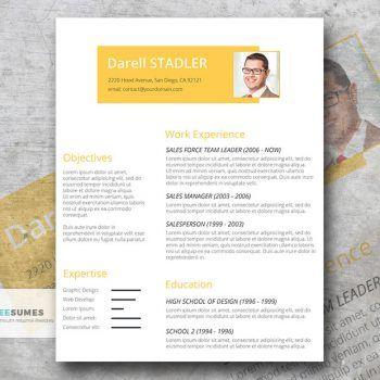 Cadmium Yellow Simple Yet Elegant Resume Template Freesumes In 2020 Modern Resume Template Cv Template Word Resume