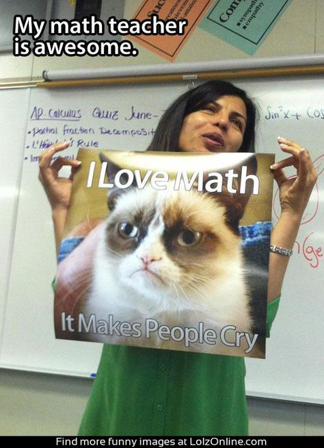 Awesome Math Teacher...