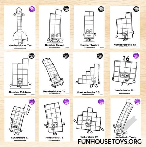@funhousetoys Pinterest pin Fun Numberblocks Coloring ...