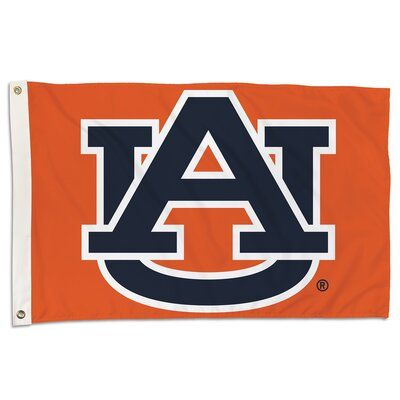 Bsi Products Ncaa Team Polyester 2 X 3 House Flag Ncaa Team Auburn University Auburn Tigers Home Logo House Flags