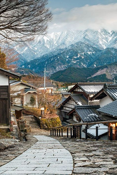 magome, kiso valley, japan villages and towns in east asia + travel destinations Japan Village, East Village, The Places Youll Go, Places To Go, Beautiful World, Beautiful Places, Beautiful Scenery, Places To Travel, Travel Destinations