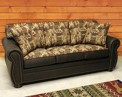 Delightful A Cabinplace.com Exclusive U2013 The Flagstaff Lodge Furniture Collection  Features Rich Earth Tone Colors That Are Blended With Deep, Coffee Faux  Leathu2026