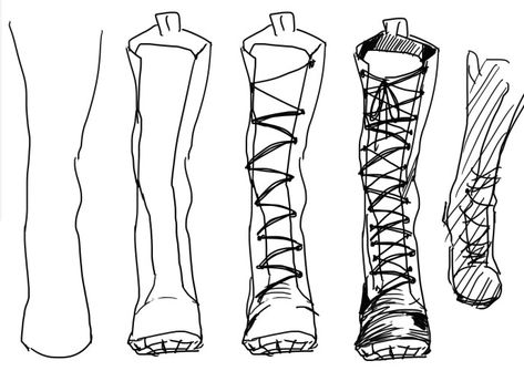 Boots Drawing Drawing Clothes Design Reference