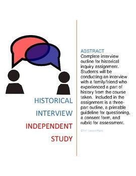Interview And Research Independent Study For History  Study