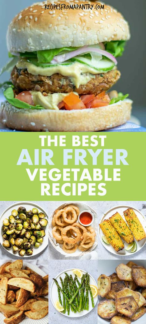 Tired of the same old boring and bland veggies? These Amazing Air Fryer Vegetable Recipes are exactly what you've been looking for! With the air fryer, all it takes is just a few minutes and a tiny bit of oil to serve up totally crave-worthy veggies that are tender in the middle and delightfully crunchy on the outside. #airfryer #airfryerrecipes #healthyairfryerrecipes #airfryervegetables #eatyourveggies #airfried #air-fryer #vegetables