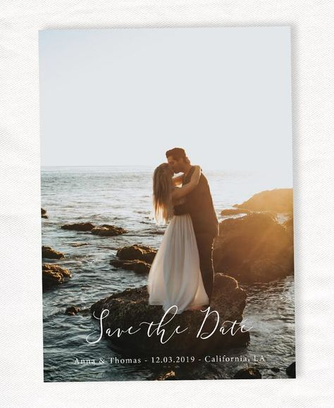 Save the date template - Save our date printable - Photoshop template - Wedding Photography PSD - We