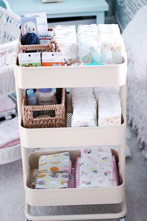 DIY organization ideas nursery