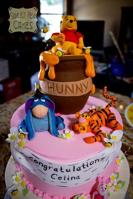 Winnie The Pooh First Birthday Cake  TopperCake SmashBoyBirthday CakePhoto Prop Party SignBlue