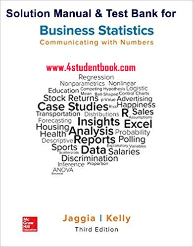 Pin On Test Bank Solution Manual For Statistics For Business And Economics 12 E