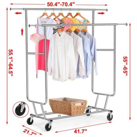 Home In 2020 Garment Racks Hanging Racks Rolling Rack