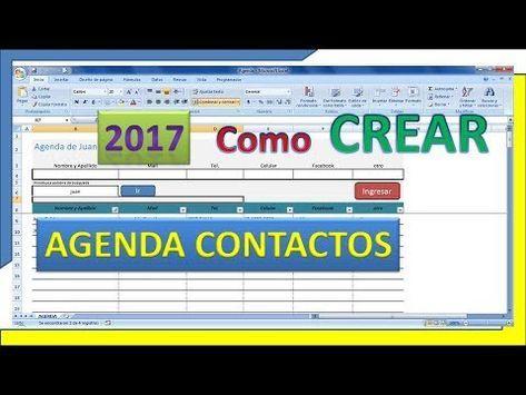 Como Realizar Tu Agenda De Contactos Con Excel De Forma