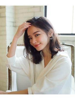 2019年春 セミロングの髪型 ヘアアレンジ 人気順 6ページ目