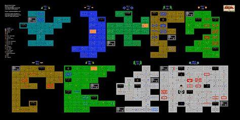 Legend Of Zelda Nes Map | Game stuff | Legend of zelda, Zelda ...