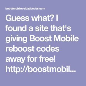 How To Get A Free Boost Mobile Reboost Card