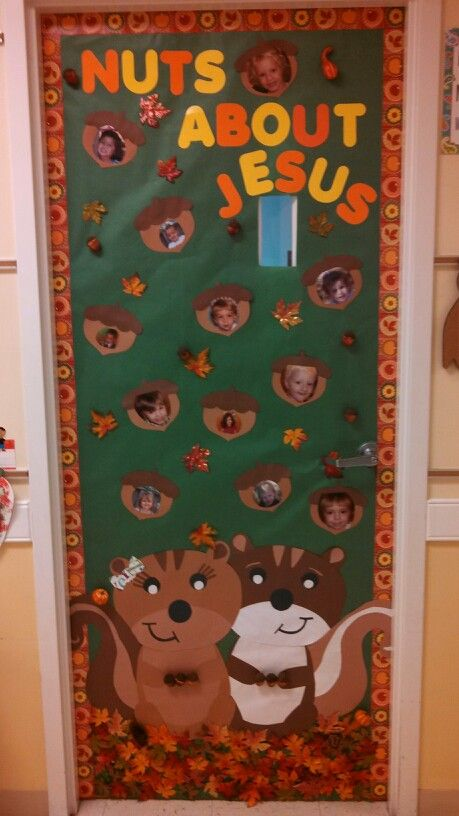 Classroom Door Decorations For Fall door for a christian preschool 2 yr old clsss. turned out great