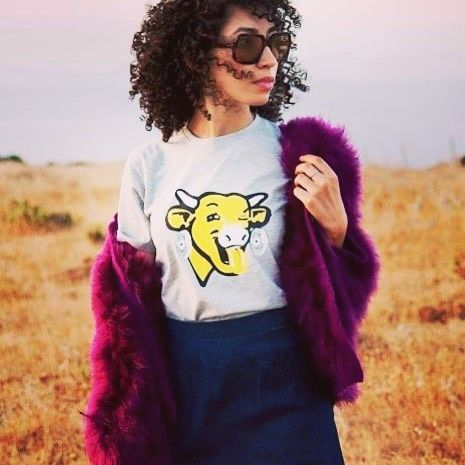 Sweet Dreams With Thelaughingcow And Rockdakasbah Tanger Lavachequirit Daydreaming Sunglasses Morocco Tangier Ma Laughing Cow T Shirts For Women Women