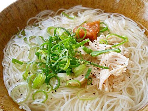 簡単 あっさり梅にゅうめん By Kmy35 レシピ レシピ 料理 レシピ にゅうめん