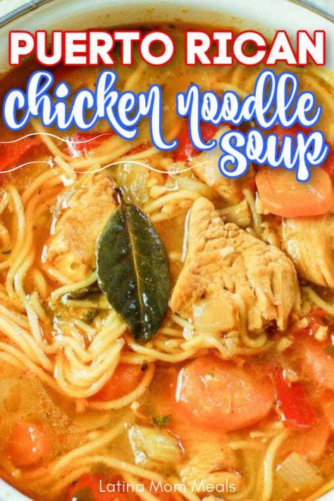 Spanish Dishes, Spanish Food, Puerto Rico, Puerto Rican Chicken, Healthy Soup, Healthy Recipes, Chicken Balls, Broccoli Pasta, Caribbean Recipes