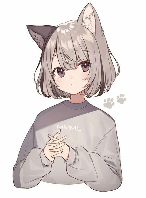 Girl cat anime Anime Cat