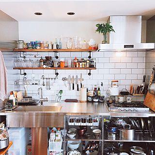 キッチン 中古マンション 物が多い マグネットナイフラック 沖縄人です などのインテリア実例 2016 10 06 12 41 55 Roomclip ルームクリップ リノベーション キッチン キッチン キッチンアイデア
