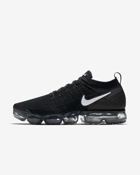 13d0ef802fe15 Mens Nike Air VaporMax Flyknit 2 Running Shoe Black Dark Grey Metallic  Silver White Style  942842-001