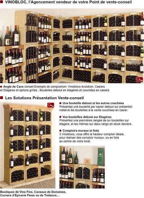 Casier A Bouteilles Vinobloc L Agencement Vendeur De Votre Point De Vente Conseil Casier A Bouteille Rangement Bouteille De Vin
