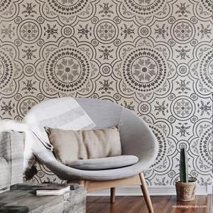Spring Rose Blossoms Furniture Stencil In 2020 Stencils Wall