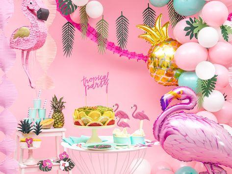 Balon Foliowy Flaming 125x90cm Tissue Paper Garlands Happy Birthday Vintage Purple Balloons