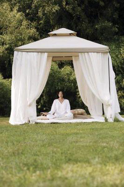 How To Attach Curtains To A Pop Up Gazebo Canopy Outdoor Gazebo Gazebo Curtains