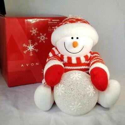 Avon Christmas Plush 2020 AVON Plush SNOWY GLOW Snowman & Lighted Snowball Christmas Home