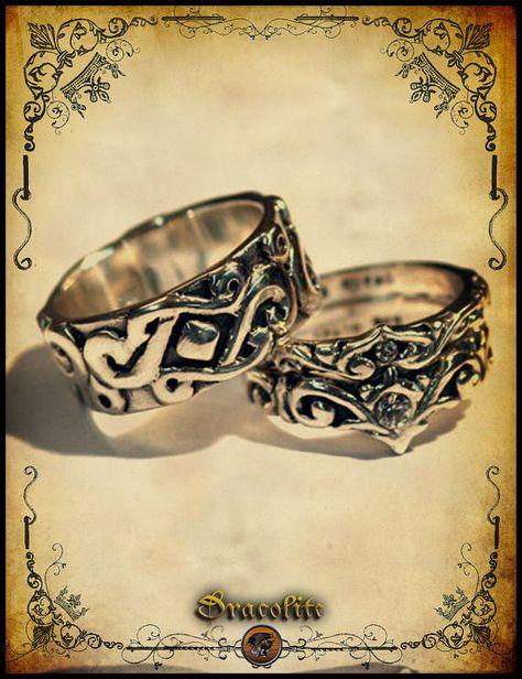 Wedding rings http://www.etsy.com/listing/115143713/medieval-wedding-ring-trio-sterling