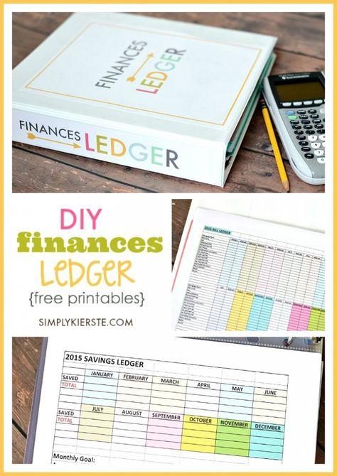 DIY Finances Ledger All Time Favorite Printables Budget