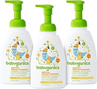 Babyganics Baby Shampoo Body Wash Orange Blossom 16oz Pump Bottle