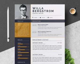 Resume Template Modern Professional Resume Template For Word Cv Resume Cover Letter A4 Size 2 Pages Pack Cover Letter Resume Template Resume Template Professional Resume