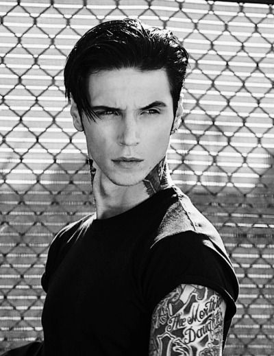 Andy biersack andy sixx black hair GIF - Find on GIFER