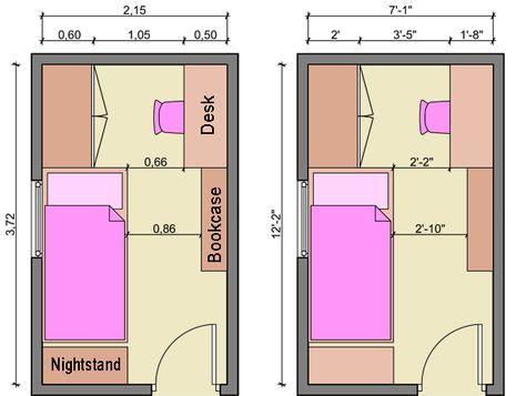 Kids Bedroom Planning M Kids Bedroom Layout Kids Room Measurements Ki Quarto De Solteiro Pequeno Decoracao Quarto Solteiro Feminino Projeto De Quarto Pequeno